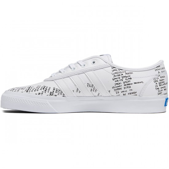 Adidas Adi-Ease Classified Shoes - White/Black/Bluebird - 8.0