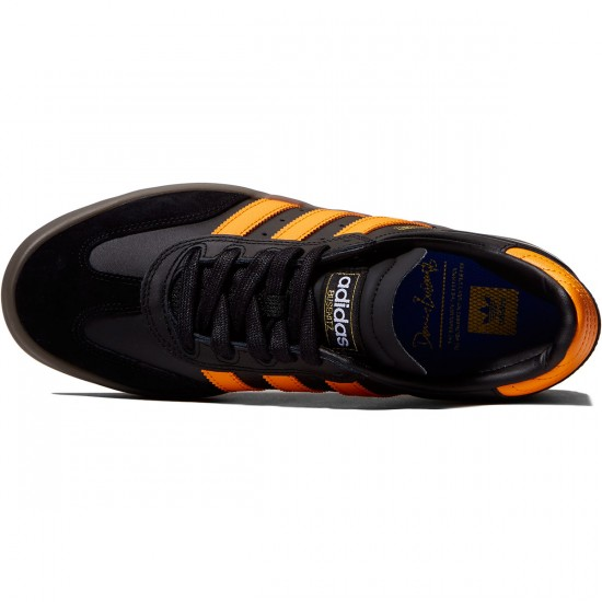 Adidas Busenitz Vulc Samba Edition Shoes - Black/Natural/Bright Orange - 10.0