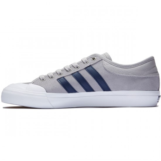 Adidas Matchcourt Shoes - Solid Grey/Collegiate Navy/White - 7.0