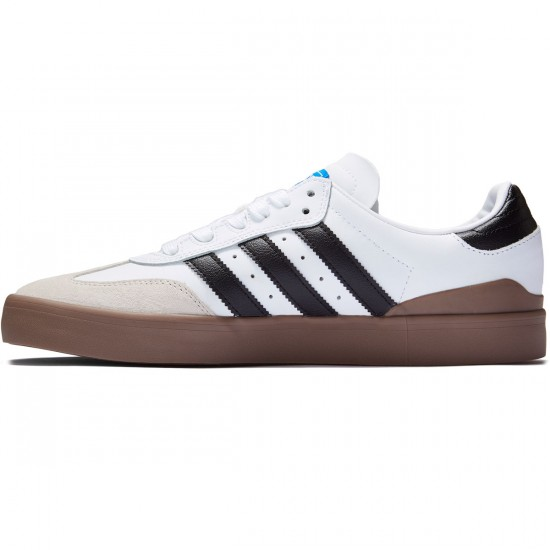 Adidas Busenitz Vulc Samba Edition Shoes - White/Black/Bluebird - 6.0