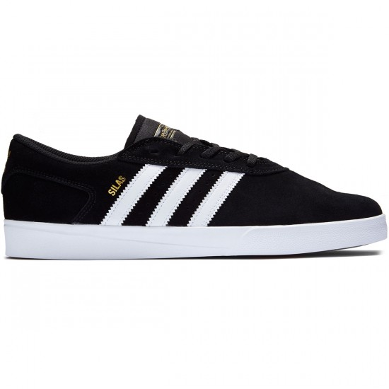 Adidas Silas Vulc Adv Shoes - Black/White/White - 7.0