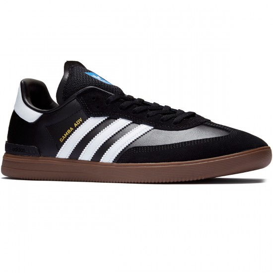 Adidas Samba ADV Shoes - Black/White/Gum - 7.0