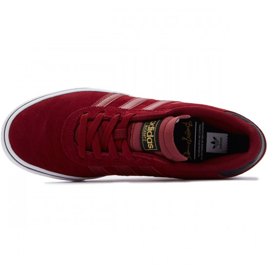 Adidas Busenitz Vulc Adv Shoes - Burgundy/Black/White