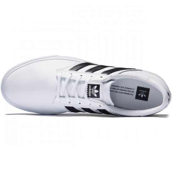 Adidas Seeley Premiere Shoes - White/Black/White - 7.0