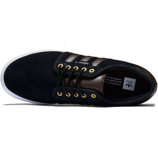 Adidas Seeley Shoes - Black/Dark Brown/White - 8.0