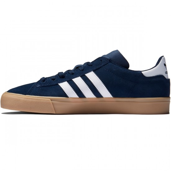 Adidas Campus Vulc II Shoes - Collegiate Navy/White/Gum - 8.0
