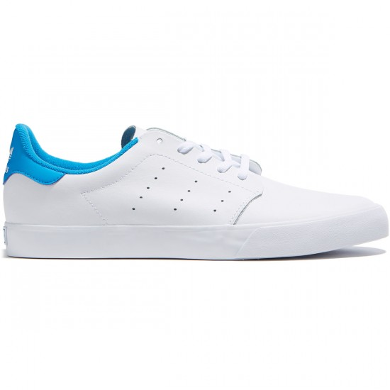 Adidas Seeley Court Shoes - White/White/Bright Blue - 8.0