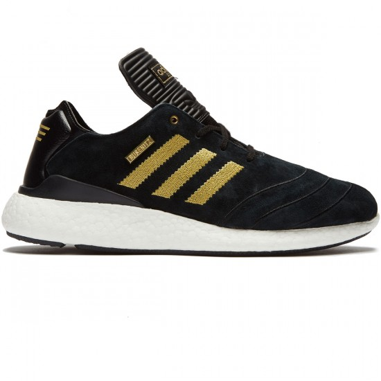 Adidas Busenitz Pure Boost Shoes - Black/Gold Metallic/White - 6.0