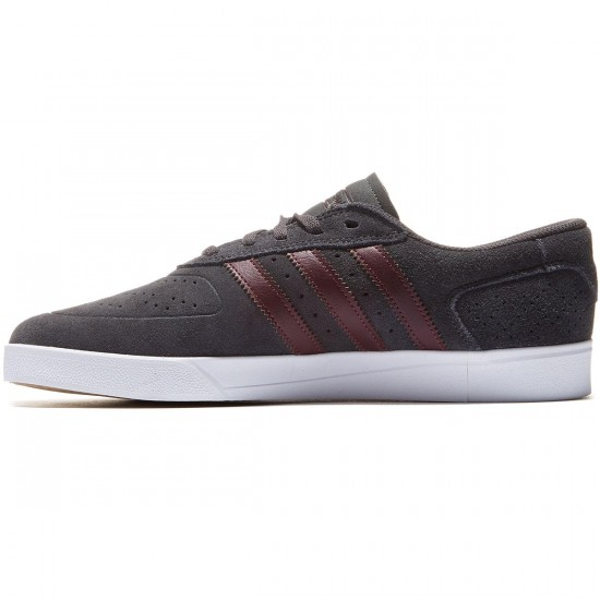 Adidas Silas Vulc Adv Shoes - Grey Maroon/White - 8.0
