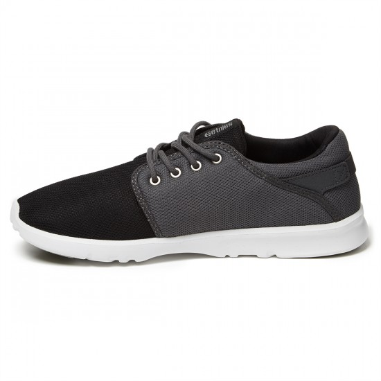 Etnies Scout Shoes - Black/Dark Grey/Silver - 8.0
