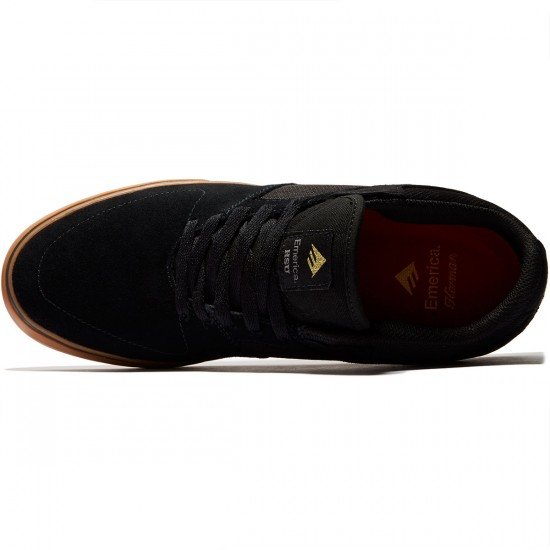 Emerica The Hsu Low Vulc Shoes - Black/Gum - 8.0