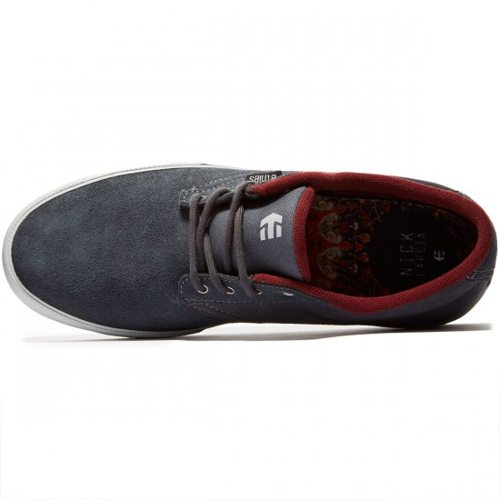 Etnies Jameson Vulc Shoes - Dark Grey/Red - 8.0