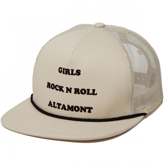 Altamont Hitch Corded Trucker Hat - White