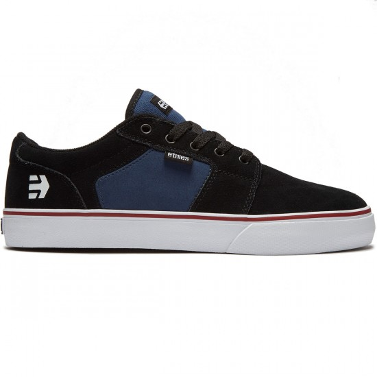 Etnies Barge LS Shoes - Black/Blue - 8.0