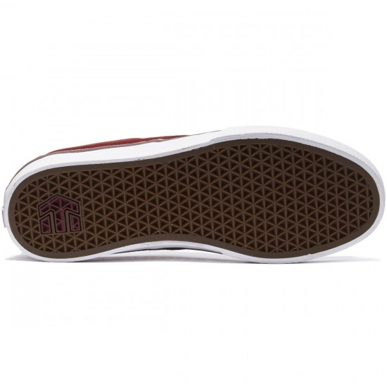Etnies Jameson Vulc Shoes - Burgundy/Tan/White - 8.0