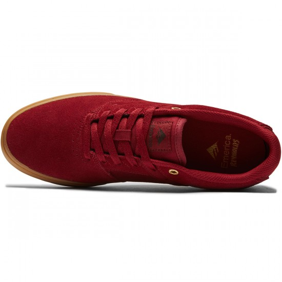 Emerica The Reynolds Low Vulc Shoes - Burgundy/Gum - 8.0
