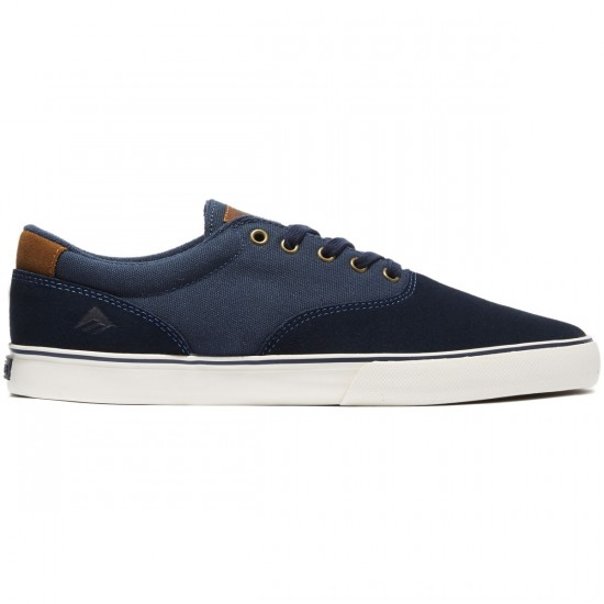 Emerica Provost Slim Vulc Shoes - Navy/Brown/White - 8.0