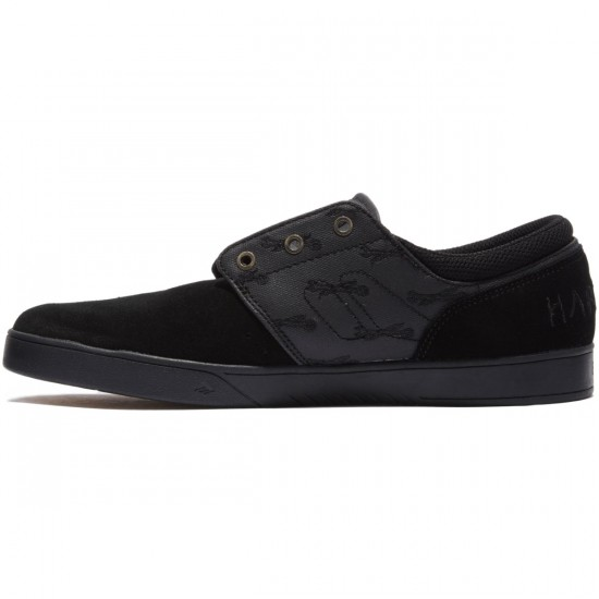 Emerica X Hard Luck Figueroa Shoes - Black/Black - 8.0