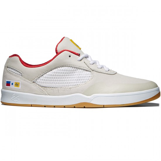 eS Swift Shoes - White/Red - 8.0