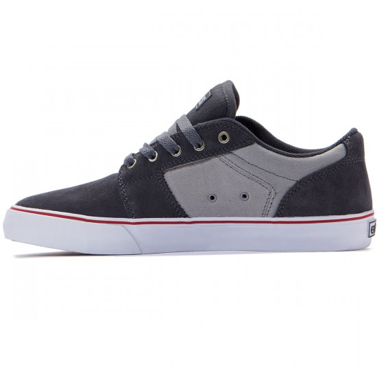 Etnies Barge LS Shoes - Dark Grey/Grey/Red - 8.0