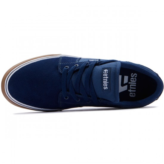 Etnies Barge LS Shoes - Blue/White/Gum - 8.0