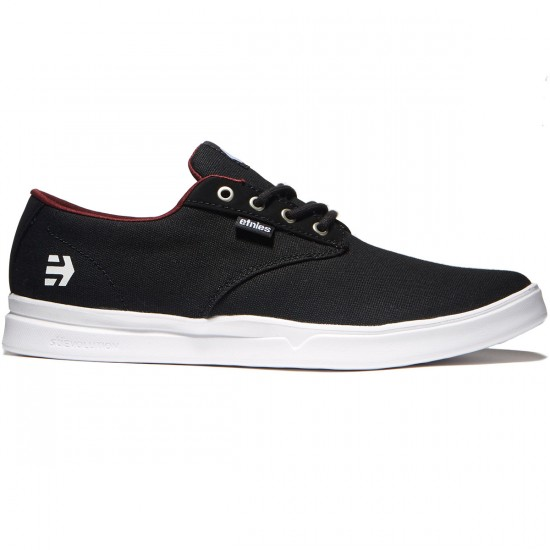 Etnies Jameson SC Shoes - Black/White/Burgundy - 8.0