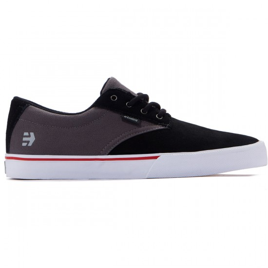 Etnies Jameson Vulc Shoes - Black/Dark Grey/Silver - 8.0