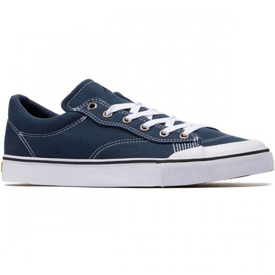 Emerica Indicator Canvas Low Shoes - Navy/White - 8.0