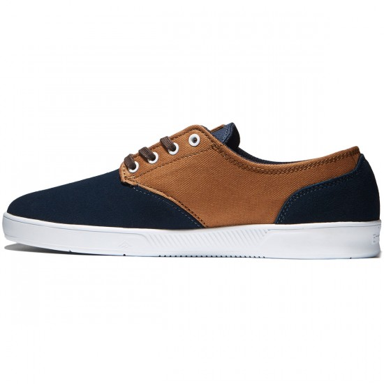 Emerica The Romero Laced Shoes - Navy/Brown/White