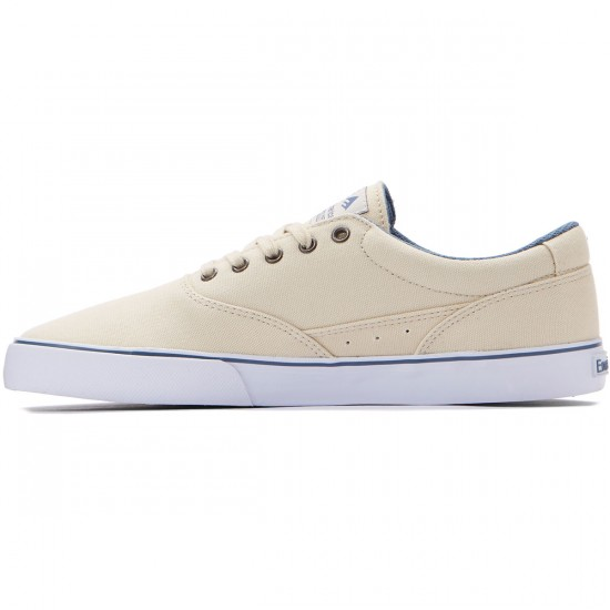Emerica Provost Slim Vulc Shoes - White/Blue - 8.0
