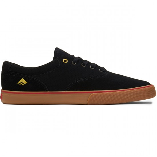 Emerica Provost Slim Vulc Shoes - Black/Gum - 8.0
