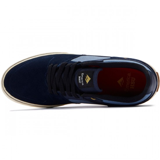 Emerica The Hsu Low Vulc Shoes - Navy/Blue - 8.0