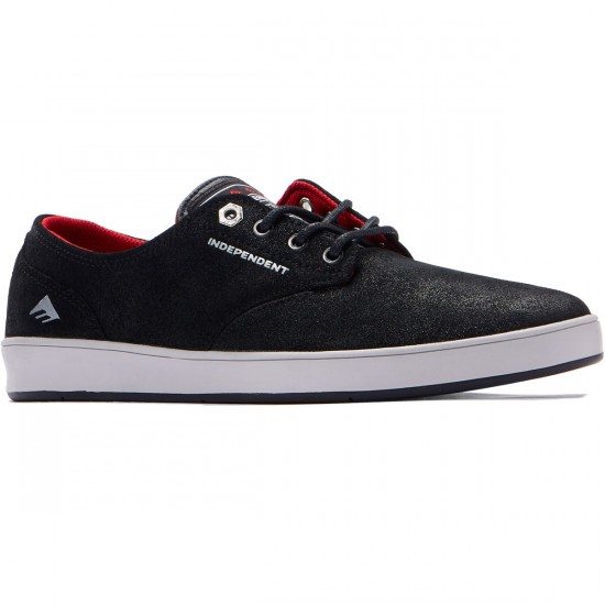 Emerica The Romero Laced x Indy Shoes - Black/Grey/Black - 7.0