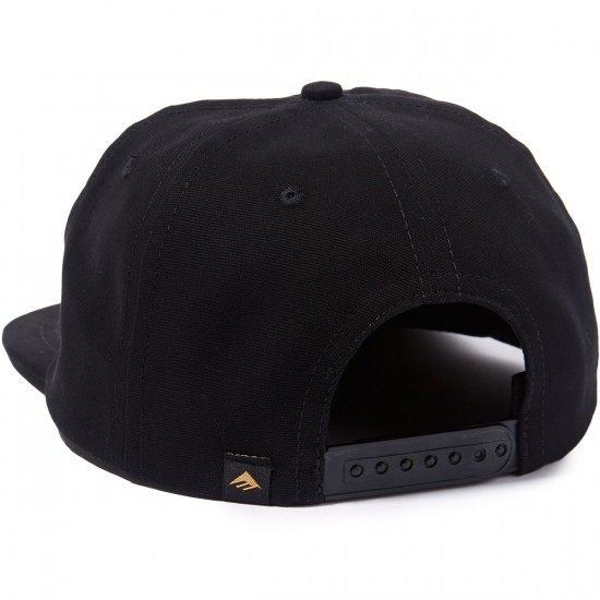 Emerica Harsh Toke Snapback Hat - Black