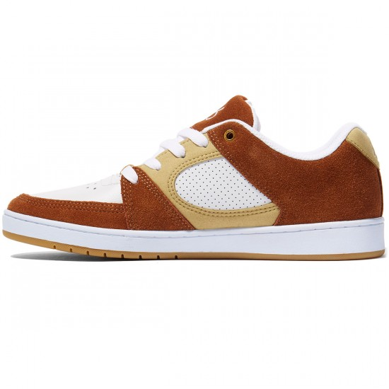 eS Accel Slim Shoes - Brown/Tan/White - 8.0