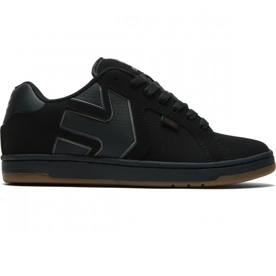 Etnies Fader 2 Shoes - Black/Black/Gum - 8.0