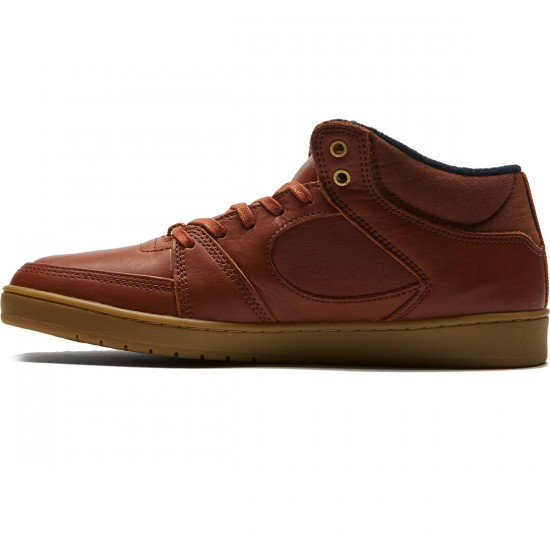 eS Accel Slim Mid Shoes - Brown/Gum/Gold - 8.0