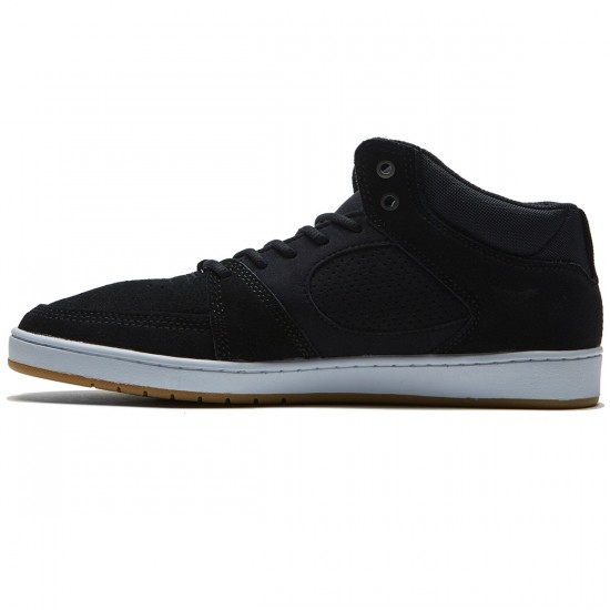 eS Accel Slim Mid Shoes - Black/White/Gum - 8.0