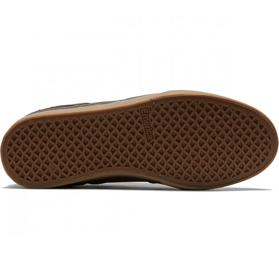 Emerica The Reynolds Low Vulc Shoes - Brown/Gum/Gold - 8.0