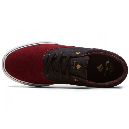 Emerica Provost Slim Vulc Shoes - Burgandy/Gold - 8.0