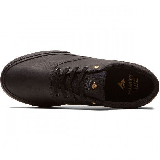 Emerica Provost Slim Vulc Shoes - Black/Gold - 8.5