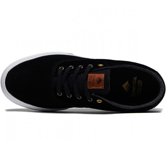 Emerica Provost Slim Vulc Shoes - Black/White/Gum - 8.0