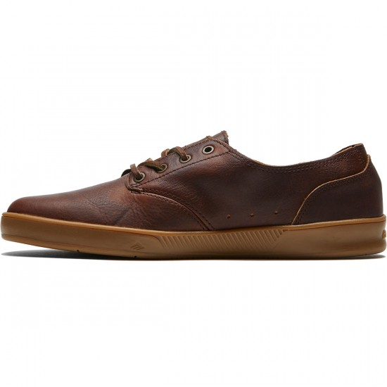 Emerica Romero Hi Reserve X Truman Shoes - Brown/Gum/Brown - 8.0