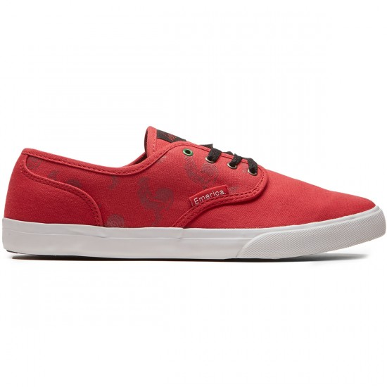Emerica Wino Cruiser X Sriracha Shoes - Red/White - 8.0