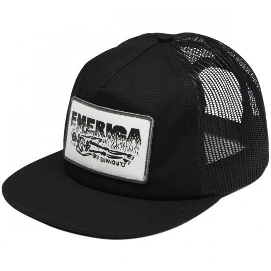 Emerica Burnout Trucker Hat - Black