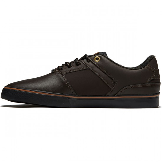 Emerica The Reynolds Low Vulc Shoes - Dark Brown - 8.0