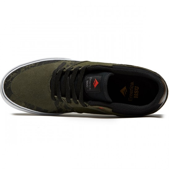 Emerica The Hsu Low Vulc Shoes - Green/Black/White