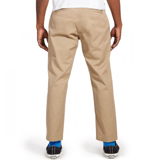 Obey Straggler Flooded Pants - Khaki - 30 - 32