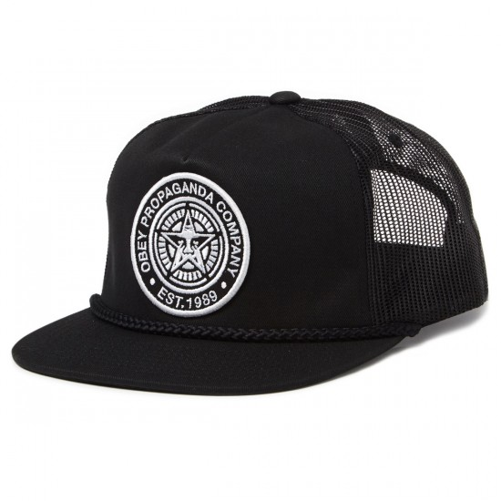 Obey Giant Trucker Hat - Black