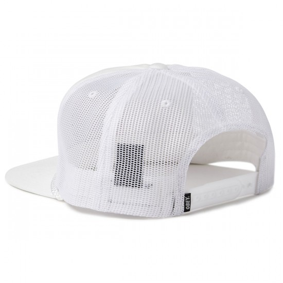 Obey Giant Trucker Hat - White